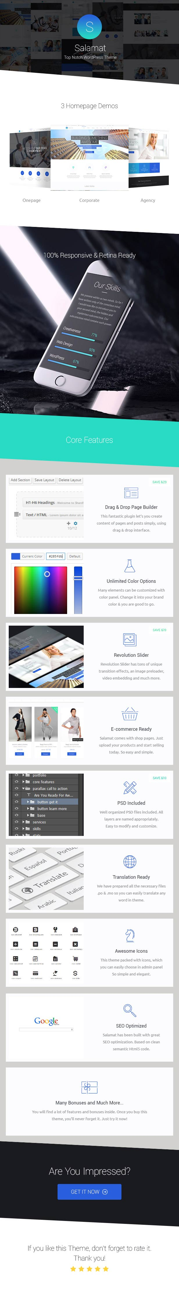 WordPress theme Salamat - Multipurpose WordPress Theme (Business)