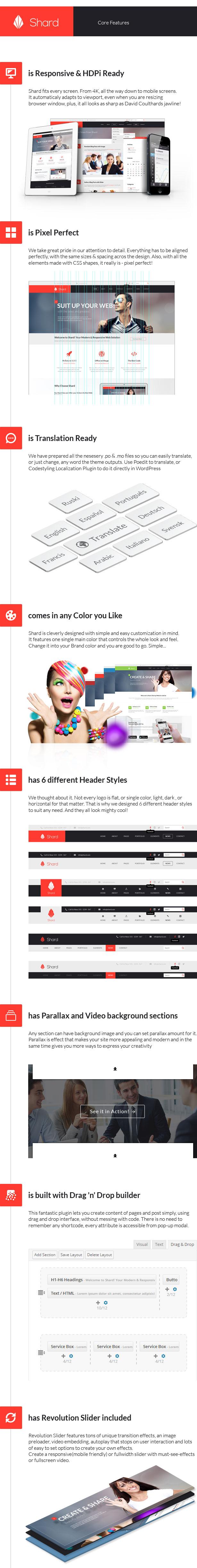 WordPress theme Shard - Multipurpose Business Parallax WP Theme (Business)