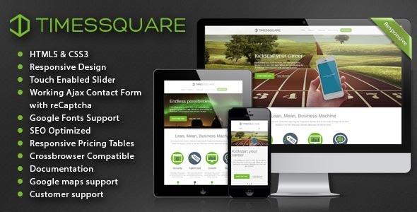 Timessquare - Responsive HTML5 Retina Landing Page